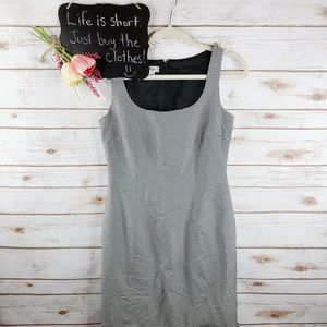 Kay Unger Dress Size 4 Checkered Ruffle Hem Sheath